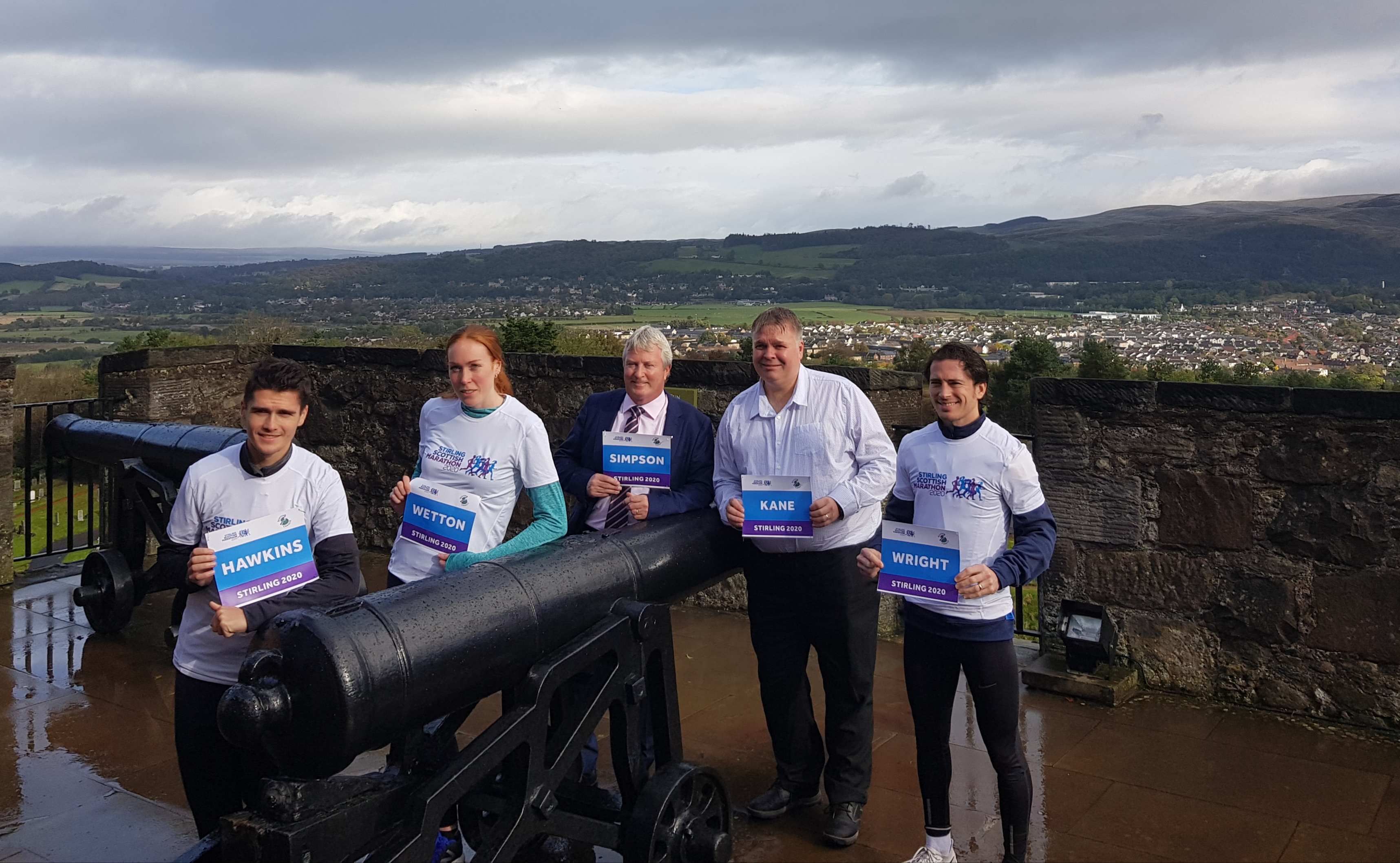 Councillors and Stirling Marathon Runners at Cannon Stirling Castle