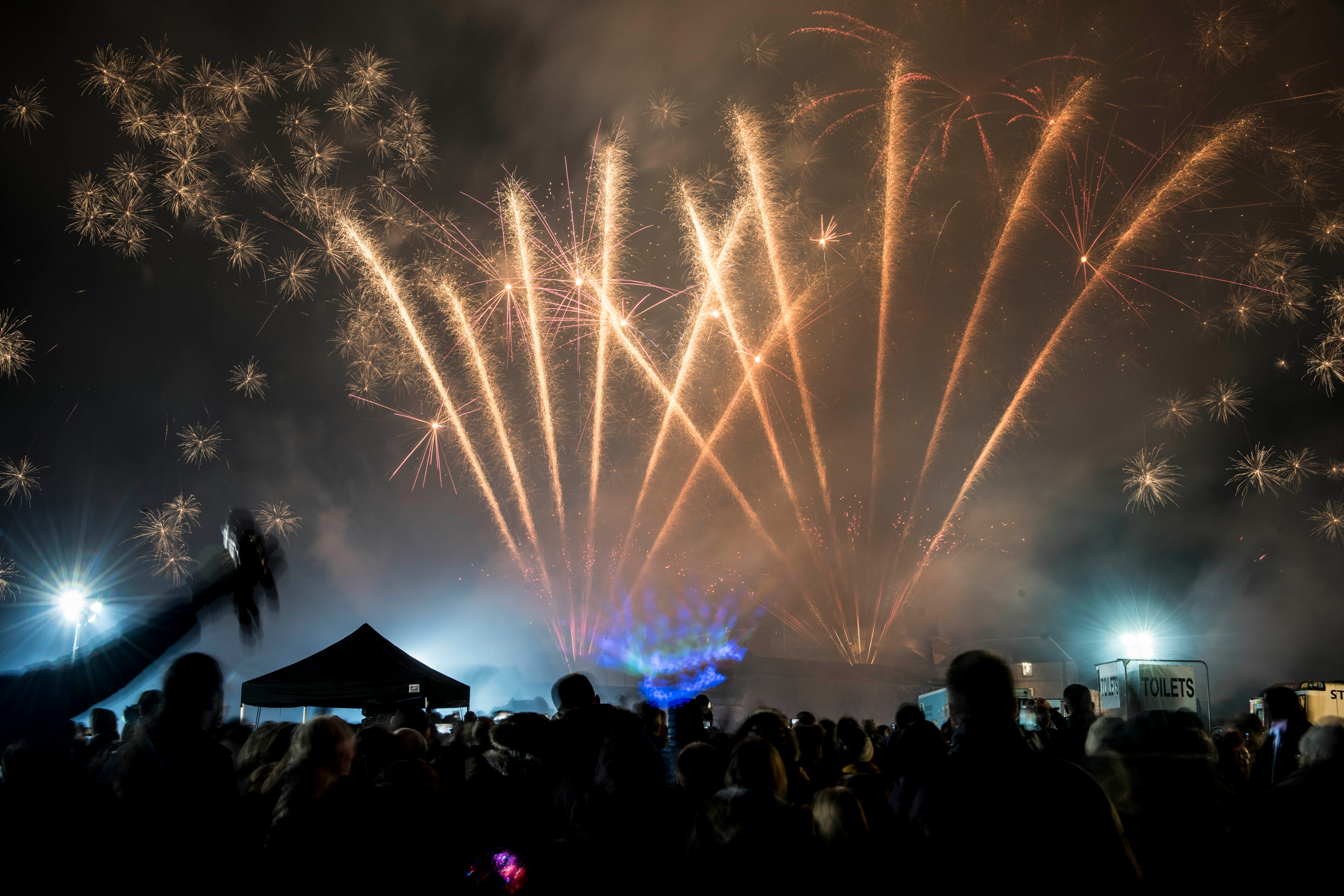 Fireworks at Stirling's Hogmanay 2019