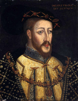 Painting of James V
