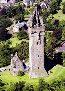 Aerial View of the Wallace Monument