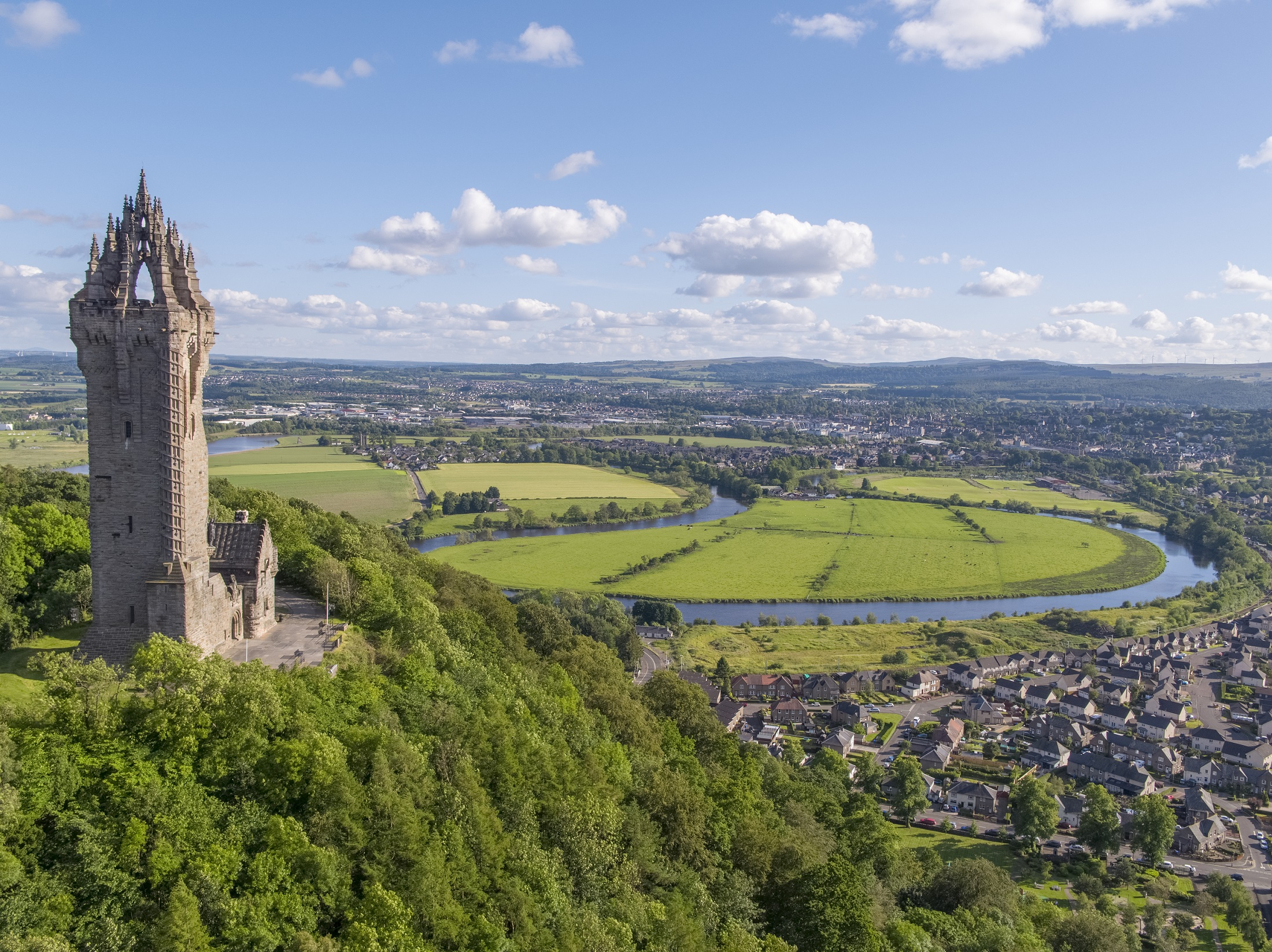 the Wallace Monument - soon to be in full Council ownership and operation - stands proudly over Stirling