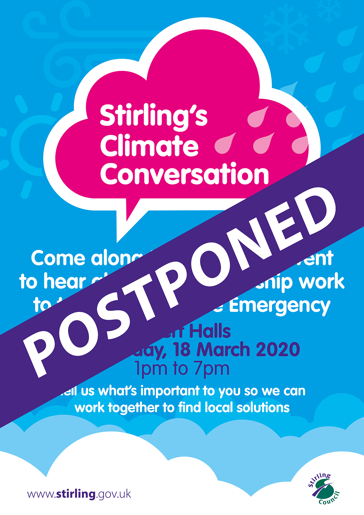 The Council's Climate Conversation event has been postponed