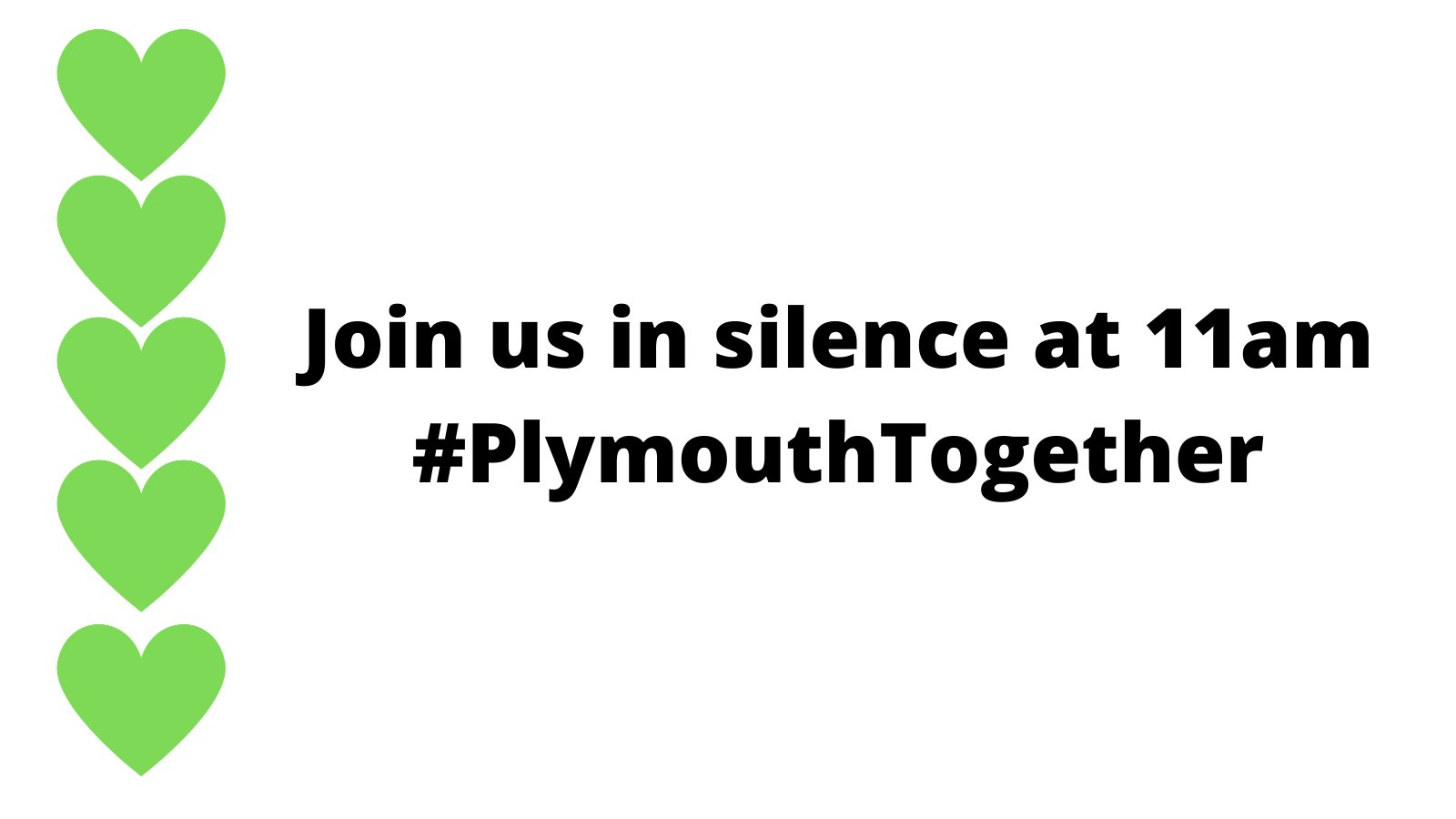 Details for a minute's silence with Plymouth City Council