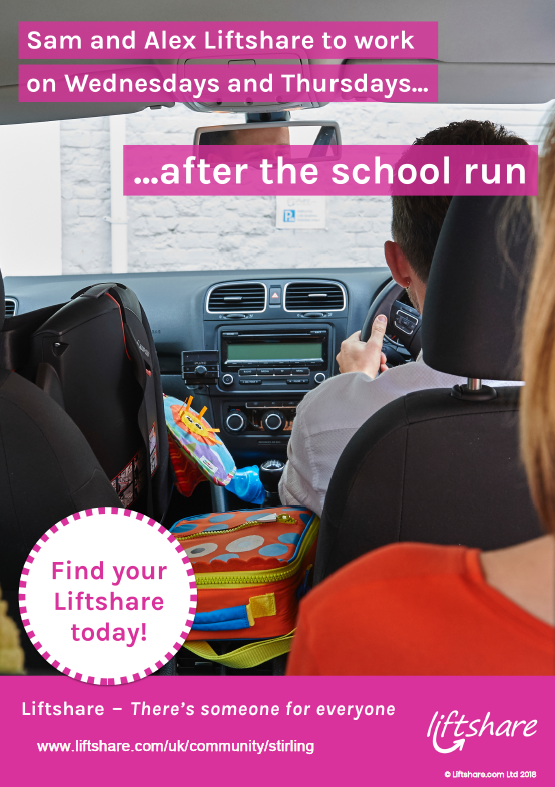 Liftshare Poser School Run