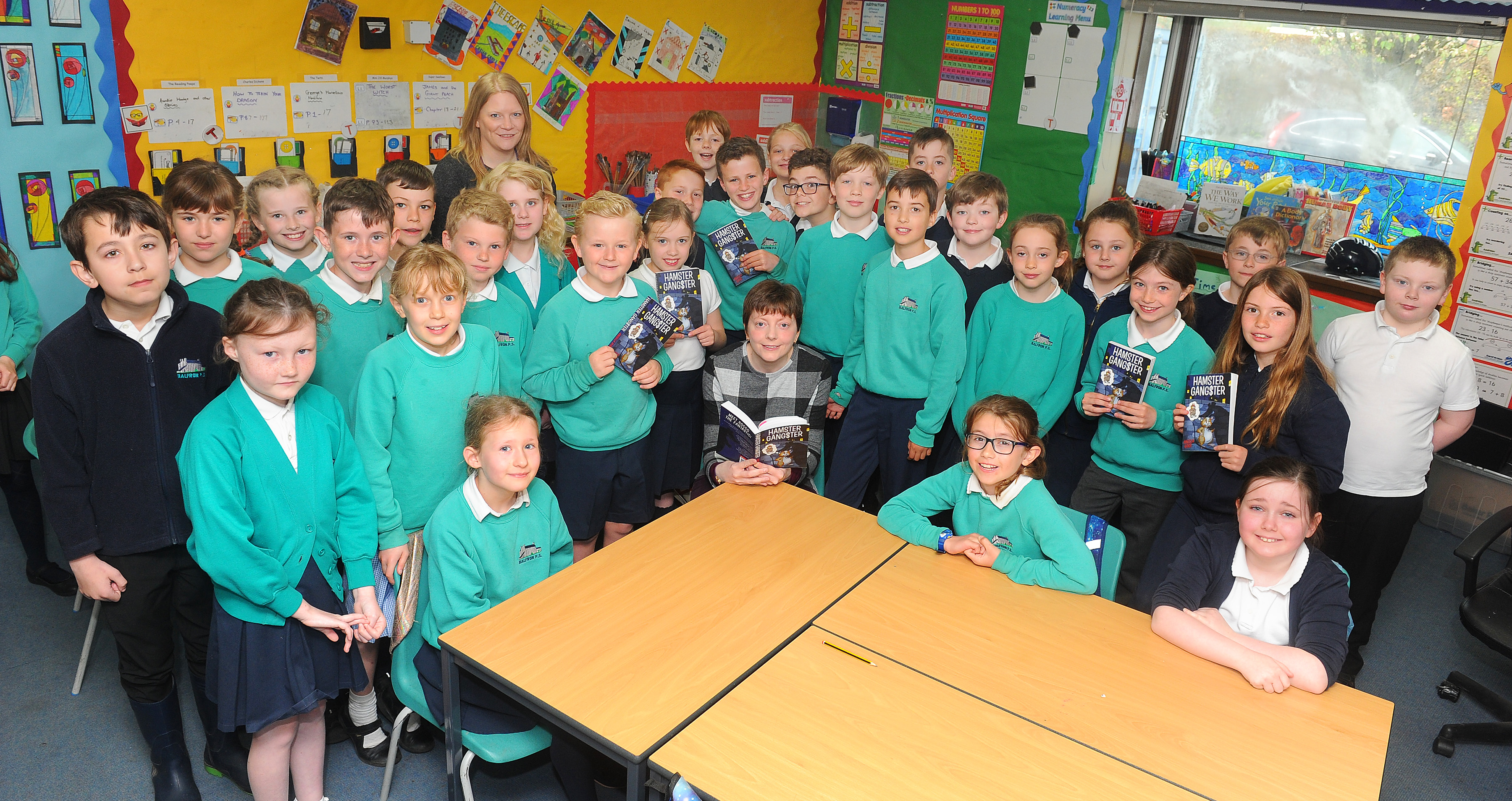 Children's author keeps pupils on the write track at Balfron