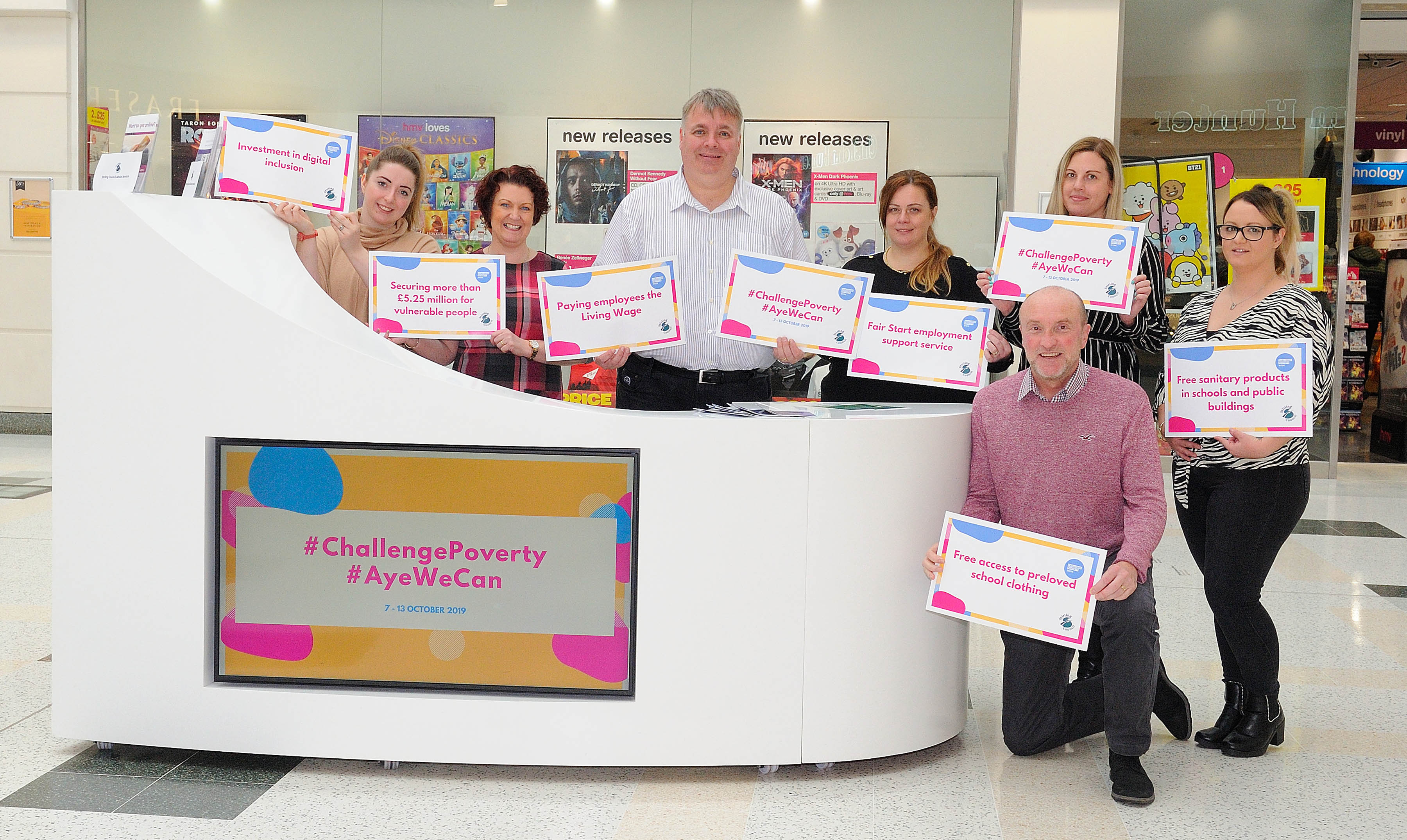 Challenge Poverty Week - Cllr Kane and members of the Council's Advice Services